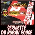 ICHIBAN KUJI DRAGON BALL SERVIETTE - RUBAN ROUGE