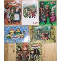 6 CARTES POSTALES DRAGON QUEST VII