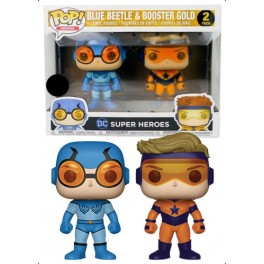 POP ! DC COMICS 2 PACK EXCLU - BLUE BEETLE & BOOSTER GOLD